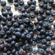 Table of Blueberries